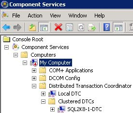 Figure 1. Newly created DTC in Component Services
