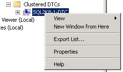 Figure 2. Opening the Properties of the DTC