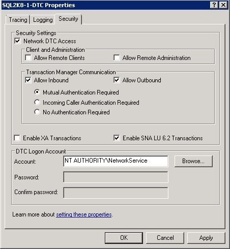 Figure 3. DTC enabled for network access