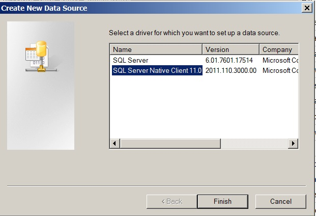 Figure 6. Selecting the version of SQL Server